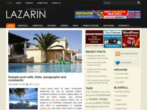 Lazarin-Free-WordPress-Theme